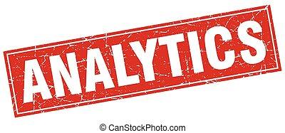 analytics square stamp