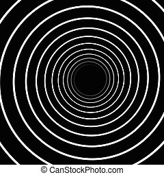 Concentric Lines. Spiral Background. Volute Hypnosis...
