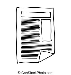 hand drawing of paper sheet text and graphics