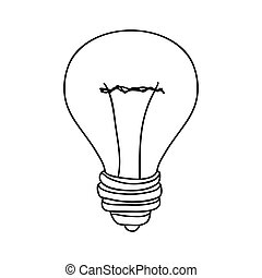 silhouette contour bulb with resistance vector illustration