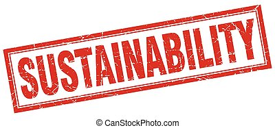 sustainability square stamp