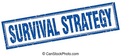 survival strategy square stamp