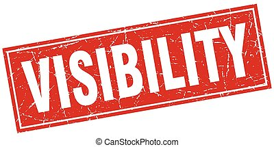 visibility square stamp
