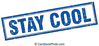 stay cool square stamp