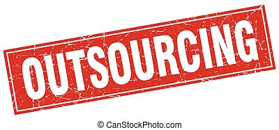 outsourcing square stamp