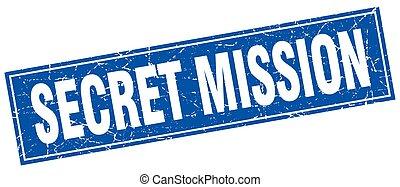 secret mission square stamp