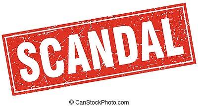 scandal square stamp