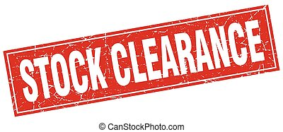 stock clearance square stamp