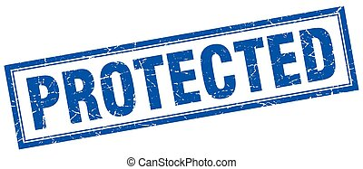protected square stamp