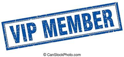 vip member square stamp