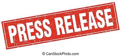 press release square stamp