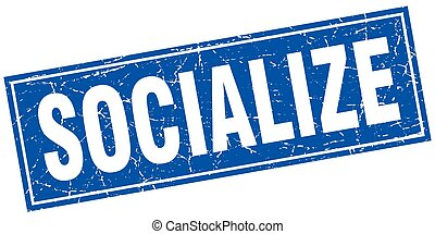 socialize square stamp