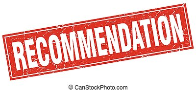 recommendation square stamp