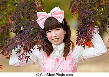Japanese girl cosplay portrait - Japanese girl dressed in...