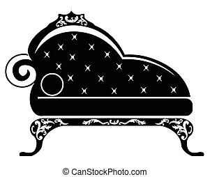 Baroque style sofa for children room with rich ornaments in...
