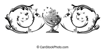 Silver swirl ornament