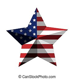 3d American flag star icon vector illustration