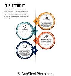 Flip Left Right Infographic - Vector illustration of flip...