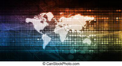 Global Network Connection and Integrated System art