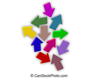 Which Way - Many arrows in different directions symbolizing...