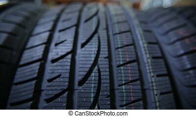 Structure of a Car tire - Closeup structure of a car tire