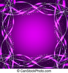 Abstract waves background. Illustration in lilac colors. -...