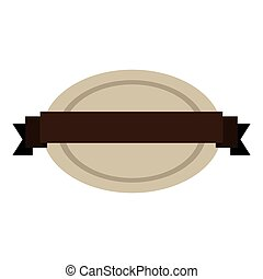 oval shape seal stamp with brown label center vector...