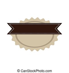 star oval shape seal stamp with brown label vector...