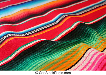 Mexican cinco de mayo rug poncho Mexico fiesta background with stripes