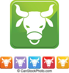 Taurus web button isolated on a background