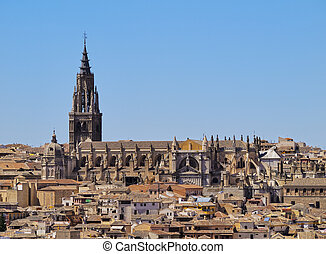 Toledo - Spain, Castile La Mancha, Toledo, View of the...