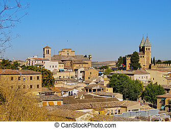 Toledo - Spain, Castile La Mancha, Toledo, Skyline of the...