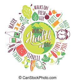 World health day concept. - World health day concept with...