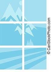 House window vector elements - House window vector element...