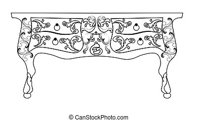 Baroque Vector table furniture