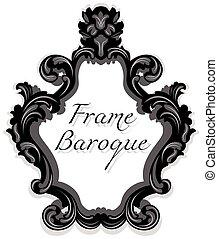 Baroque Rococo Mirror frame set. Vector French Luxury rich...