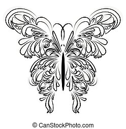 Artistic ornamented butterfly