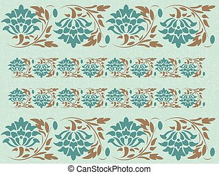 Vintage Abstract floral classic pattern