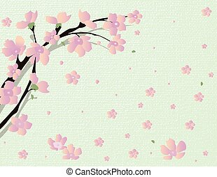 Cherry Vector blossom tree
