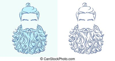beard god neptune - vector illustration beard man neptune...