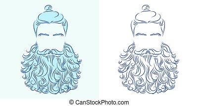 beard god neptune - vector illustration beard man neptune...