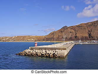 Porto Santo - Portugal, Madeira Islands, Porto Santo, View...