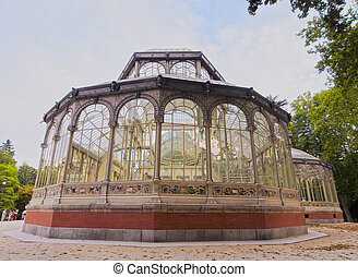 Retiro Park in Madrid - Spain, Madrid, View of the Crystal...