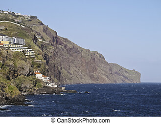 Funchal - Portugal, Madeira, Funchal, View of the coast.