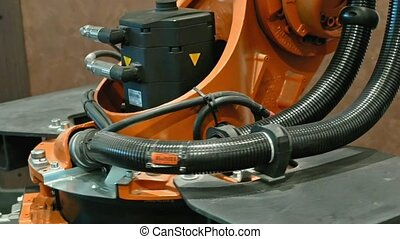 Industrial robot arm for welding and assembling - Industrial...