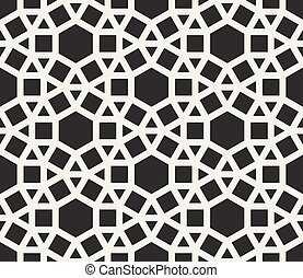 Vector Seamless Black and White Tessellation Pattern....