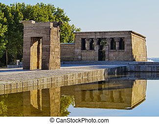 Temple of Debod in Madrid - Spain, Madrid, Parque del Oeste,...