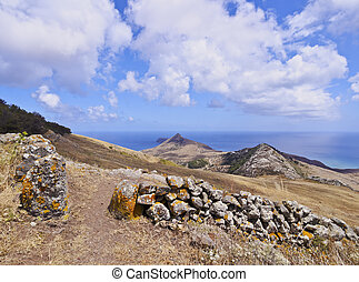 Porto Santo - Portugal, Madeira Islands, Landscape of the...