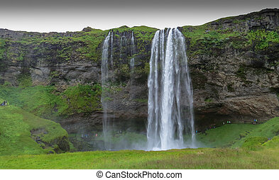 Majestic Seljalandsfoss - World famous Seljalandsfoss, a...