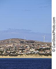 Porto Santo - Portugal, Madeira Islands, View towards the...